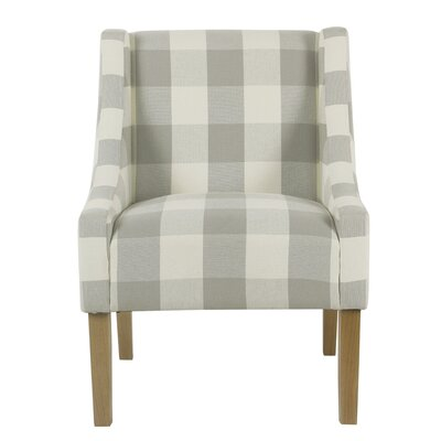 Phipps Swoop Armchair Upholstery: Gray