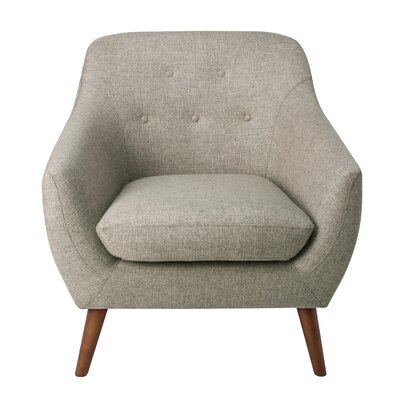 Vigil Tufted Armchair Upholstery: Gray
