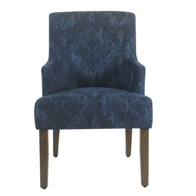 Arrowwood Upholstered Dining Chair Color: Patterned Indigo