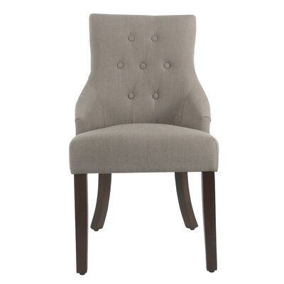 Arundel Tufted Dining Chair Color: Putty