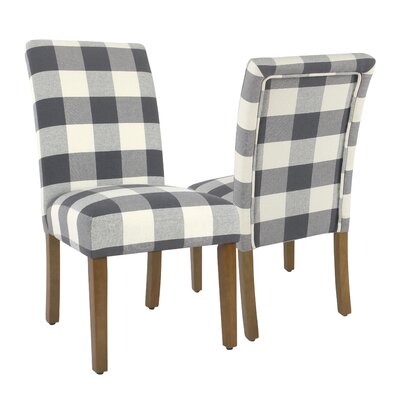 Nariani Upholstered Nariani Chair Upholstery Color: Blue Plaid, Leg Color: Beige