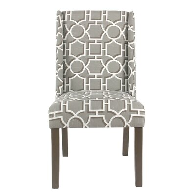 Bowers Contemporary Upholstered Dining Chair Upholstery Color: Modern Gray Lattice
