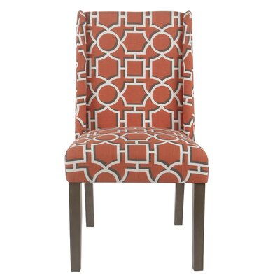 Bowers Contemporary Upholstered Dining Chair Upholstery Color: Persimmon Lattice