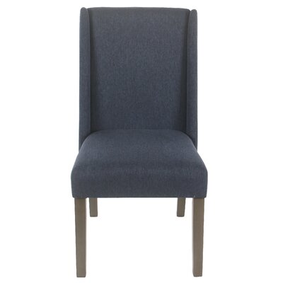 Bowers Upholstered Dining Chair Upholstery Color: Navy