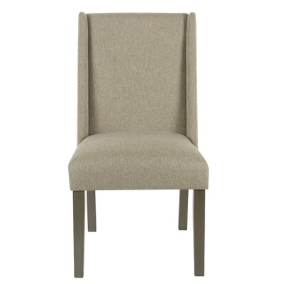 Bowers Upholstered Dining Chair Upholstery Color: Stone