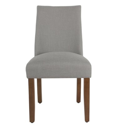 Barnabas Upholstered Dining Chair Upholstery Color: Silver