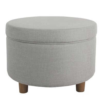 Chew Stoke Storage Ottoman Upholstery: Silver