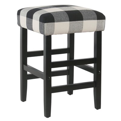 Proxima 24 Bar Stool Color: Black