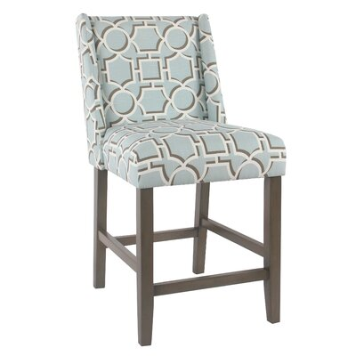 Racine 26 Bar Stool Color: Aqua
