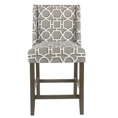 Racine 26 Bar Stool Color: Gray
