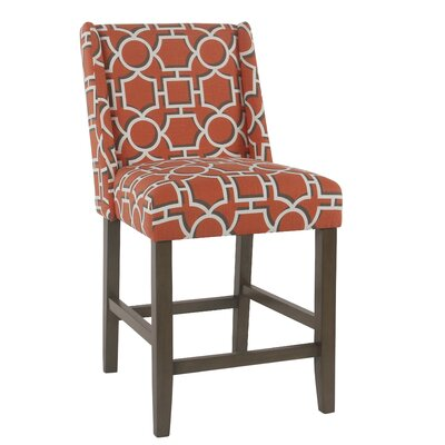 Racine 26 Bar Stool Color: Orange