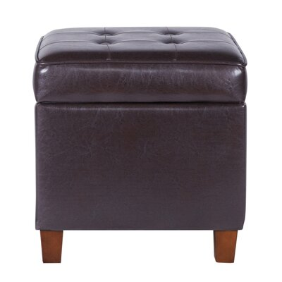 HomePop Storage Ottoman Color: Brown