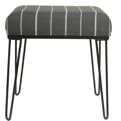 Cissus Ottoman Upholstery: Charcoal