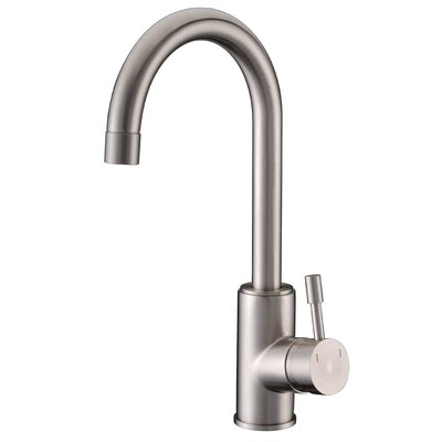 Single Handle Single Hole Kitchen Faucet Finish: Brushed Nickel
