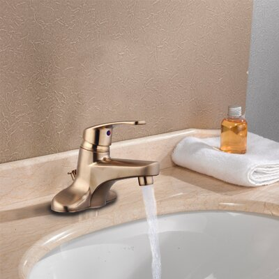 Single Handle Three Hole Centerset Bathroom Faucet Finish: Brushed Nickel, Optional Accessories: Without Pop-Up Drain