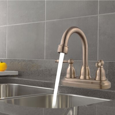 Centerset Three Hole Bathroom Faucet Finish: Brushed Nickel, Optional Accessories: Without Pop-Up Drain
