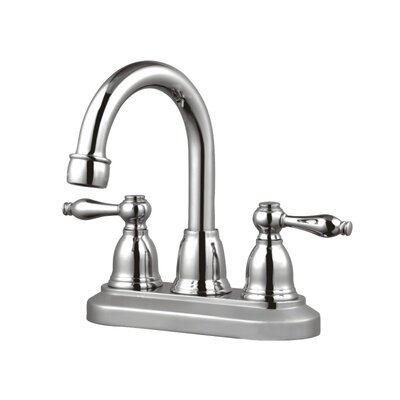 Centerset Three Hole Bathroom Faucet Optional Accessories: Without Pop-Up Drain, Finish: Polished Chrome