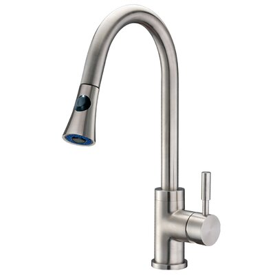 Single Handle Single Hole Kitchen Faucet with Pull-Down