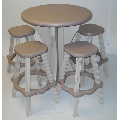 5 Piece Bar Set Color: Taupe