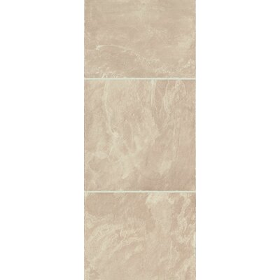 Stones and Ceramics 11.81 x 47.48 x 8.3mm Tile Laminate Flooring in Slate Natural Beige
