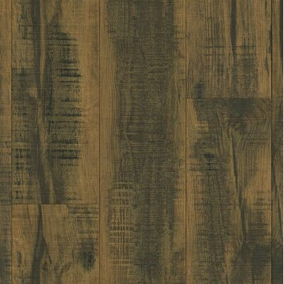 Architectural Remnants 8 x 48 x 12mm Oak Laminate in Blackened Brown