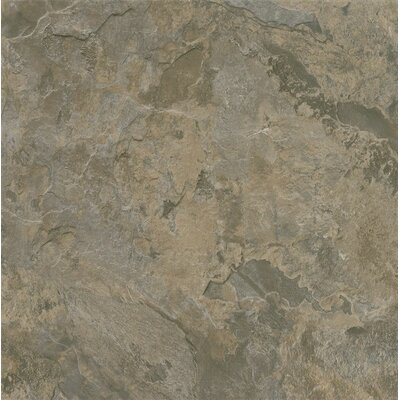 Alterna Mesa Stone 16 x 16 Engineered Stone Tile in Gray/Brown