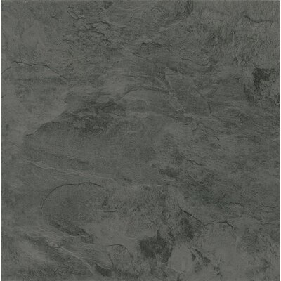Alterna Mesa Stone 16 x 16 Engineered Stone Tile in Charcoal
