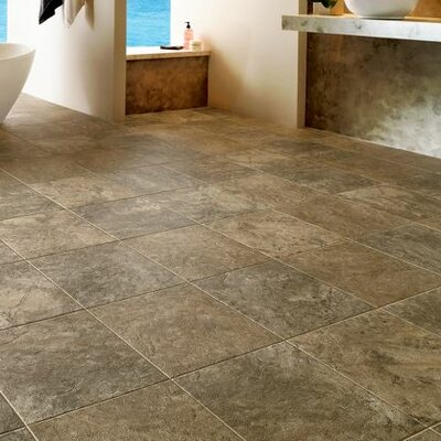 Alterna Reserve 16 x 16 Engineered Stone Field Tile in Cameo Brown/Gray