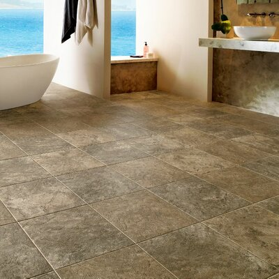 Alterna Reserve Classico Travertine 16 x 16 Engineered Stone Tile in Sandstone/Blue