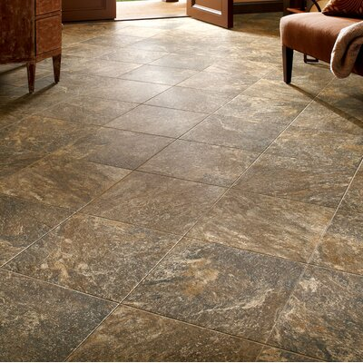 Alterna Reserve 16 x 16 Engineered Stone Field Tile in Brown/Gray