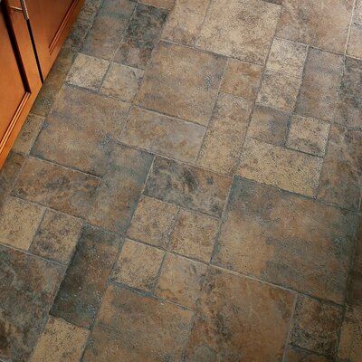 Stones and Ceramics 15.94 x 47.75 x 8.3mm Tile Laminate Flooring in Weathered Way Earthen Copper