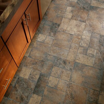 Stones and Ceramics 15.94 x 47.75 x 8.3mm Tile Laminate in Weathered Way Euro Terracotta