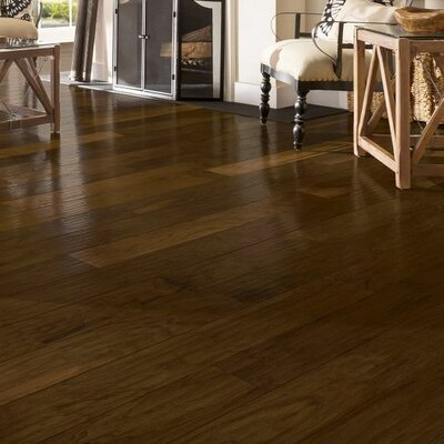 American 5-3/4 Engineered Walnut Hardwood Flooring in Buck Horn