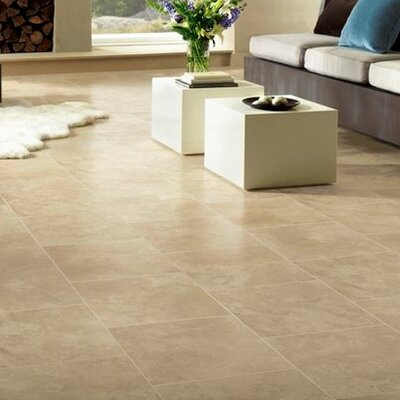 Stones and Ceramics 15.94 x 47.75 x 8.3mm Tile Laminate Flooring in Limestone Linen Sand