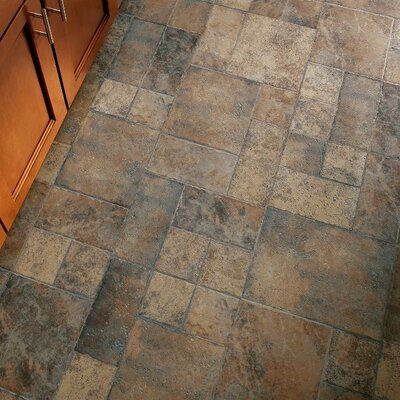 Stones and Ceramics 15.94 x 47.75 x 8.3mm Tile Laminate Flooring in Weathered Way Roman Grey
