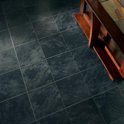 Stones and Ceramics 11.81 x 47.48 x 8.3mm Tile Laminate Flooring in Slate Ebony Mist