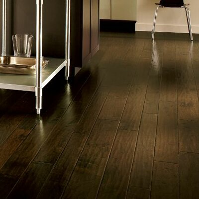 Artesian Random Width Engineered Hickory Hardwood Flooring in Brunet