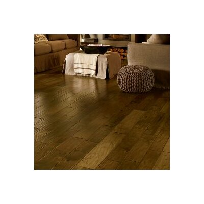 Artesian Hand-Tool Random Width Engineered Walnut Hardwood Flooring in Whisper Brown