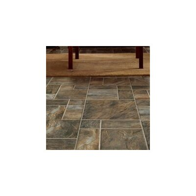 15.95 x 47.76 x 8mm Tile Laminate Flooring in Brown