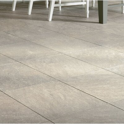 Alterna Reserve 16 x 16 Engineered Stone Field Tile in Pearl Gray