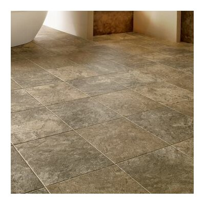 Alterna Reserve Classico Travertine 16 x 16 Engineered Stone Tile in Blue Mist/Beige