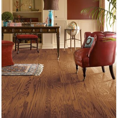 Fifth Avenue Plank 3 Engineered Red Oak Hardwood Flooring in Sable