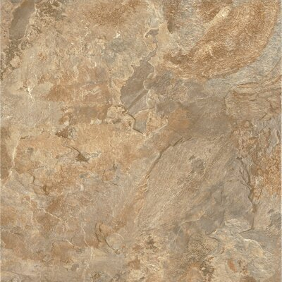 Alterna Mesa Stone 16 x 16 x 4.064mm Luxury Vinyl Tile in Terracotta/Clay