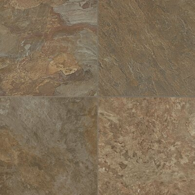 Alterna ReserveMoseValley 16 x 16 x 4.064mm Luxury Vinyl Tile in Forest Green/Copper