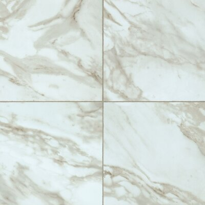 Alterna Reserve Rossini Marble 16 x 16 x 4.064mm Luxury Vinyl Tile in Gray Mist