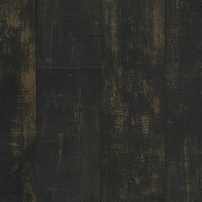 Architectural Remnant Antique Structure 4.92 x 47.84 x 12mm Luxury Vinyl Laminate Flooring in Black Paint