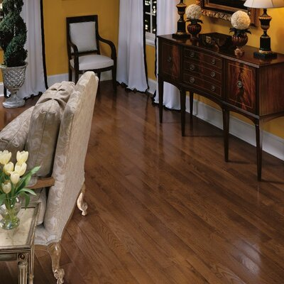 Bristol 3-1/4 Solid Red / White Oak Hardwood Flooring in Saddle