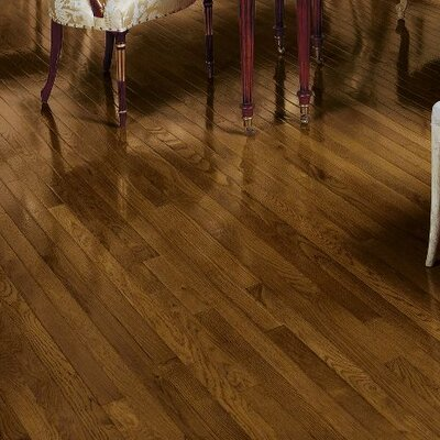 Fulton 2-1/4 Solid Red / White Oak Hardwood Flooring in Saddle