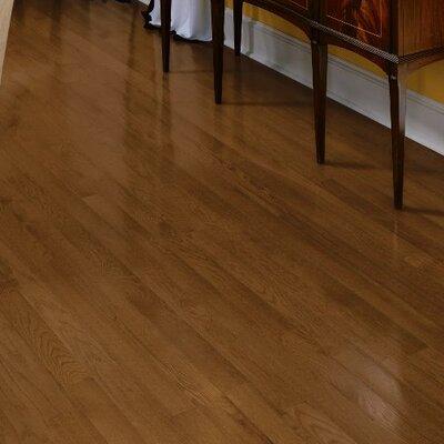 Fulton 3-1/4 Solid Red / White Oak Hardwood Flooring in Saddle