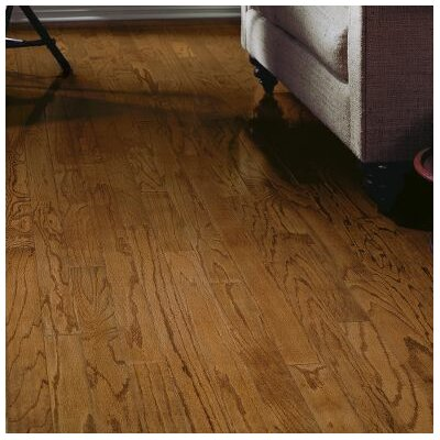 Springdale Plank 3 Engineered Oak Hardwood Flooring in Saddle